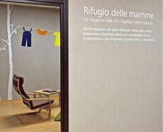 Allestimento Rifugio delle Mamme, luogo d'incontro per mamme e per l'allattamento naturale c/o Biopolis Store Roma