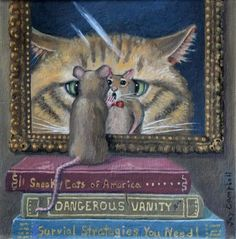 The old cat & mouse game.just slowly edge sideways and then beat feet! Illustrations, Illustration Art, Gatos Cats, Cat Mouse, Cat Paws, Cat Drawing, Sculpture, Beautiful Cats, Dog Art