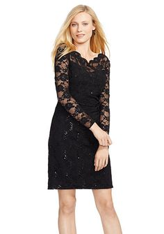Lauren Ralph Lauren Sequined Lace Dress