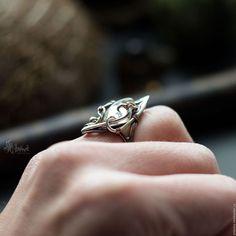 Кольца ручной работы. Кольцо из меди и серебра с горным хрусталем. Artarina. Ярмарка Мастеров. Безразмерное кольцо, кольцо из серебра