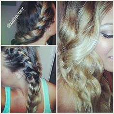 QUICK & EASY NO heat curls hair tutorial omg i do this like every.single.day super easy!