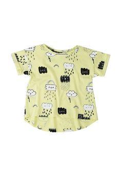 Kukukid T-Shirt | Yellow Clouds