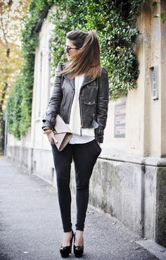 Look of the day: Rock - SCENT OF OBSESSION - leather jacket