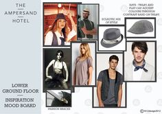 Mood board Ampersand Hotel, Flat Cap, Accent Colors, Contrast, Colours, Mood, Inspiration, Design, Style