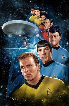 Star Trek Captain Kirk and Crew NCC-1701