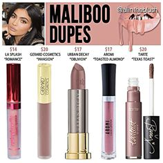 Kylie Jenner lip kit dupes for Maliboo