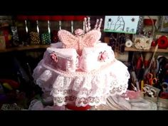 Shabby Chic Wedding Cake Pin Cushion - jennings644