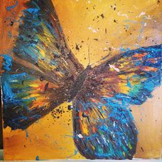 Oil on canvas butterfly series