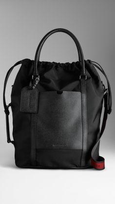 1cd2d5c3df London Leather Nylon Tote Bag