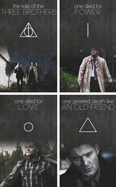 Seen this before and I just... it's so true. I feel that Dean's is especially appropriate. I mean, at the end of it all, I bet he really will greet Death like an old friend.