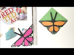 Easy Butterfly Bookmark Corner - Red Ted Art's Blog : Red Ted Art's Blog