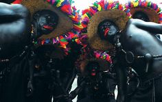 Carnaval de Barranquilla grupo Son de Negro de Santa Lucia