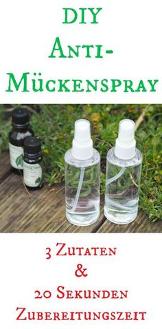 DIY Mückenspray As soon as the sun is here and summer comes, the mosquitoes will come. For this I use this DIY anti - mosquito spray. There is no better mosquito repellent and it is made in less than Best Mosquito Repellent, Mosquito Spray, Anti Mosquito, Wine Bottle Crafts, Mason Jar Crafts, Mason Jars, Trailers Camping, Blog Food, Diy Beauty
