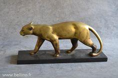 Restitution de la patine s'une panthère en bronze de Bracquemond http://www.bellino.fr/blog/?p=680