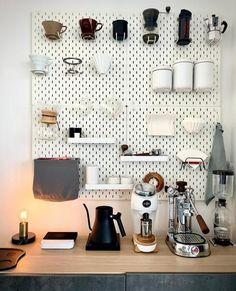 Coffee Bars In Kitchen, Coffee Bar Home, Coffee Corner, Coffee Set, Drip Coffee, Coffee Bar Station, Home Coffee Stations, Espresso At Home, Espresso Bar