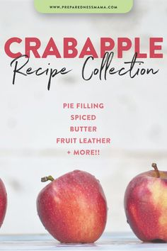 Did you know you can eat crabapples? There are some differences between the crab apples that are orn Crab Apple Recipes, Apple Dessert Recipes, Fruit Recipes, Caramel Apple Shots, Apple Plant, Slow Cooker, Crab Apples, Healthy Donuts, Eating Vegetables