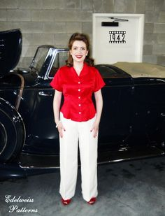 A vintage inspired 1940s Fourth of July outfit. : )
