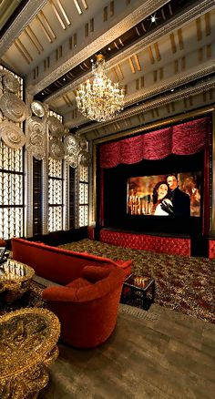 Movie Date in High Glam Home Theater  ❤ ❤ ❤