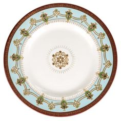 A RUSSIAN PORCELAIN CHARGER IN THE NEO-RUSSIAN STYLE, KUZNETSOV PORCELAIN FACTORY, 1899-1917   the r