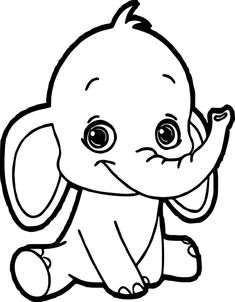 Baby elephant coloring pages to download and print for ...