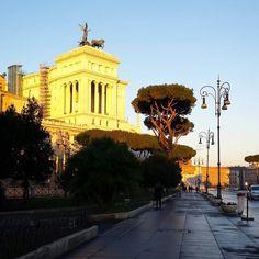 Thursday morning  #roma #rome #italy #italia #igersroma #love #picoftheday #igersitalia #photooftheday #beautiful #city #history #foriimperiali #architecture #cittàeterna #instadaily #eternalcity #loves_monuments #top_italia_photo #altaredellapatria #vittoriano #thursdaymorning #sunrise #sunny