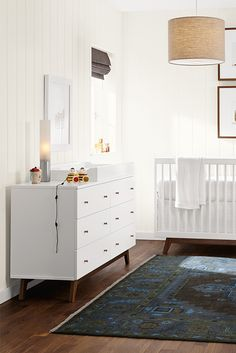 Featuring a soft, matte finish and simple, clean lines, our Flynn dresser is as at home in the nursery as in a kid's bedroom.