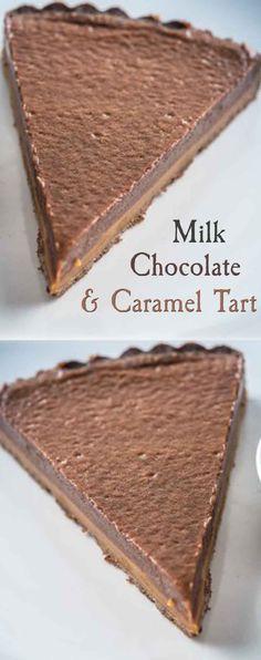 Milk Chocolate and Caramel Tart