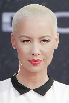 Amber Rose, Kylie Jenner And The Intersection Of Class And Slut-Shaming Super Short Hair, Marketing Articles, Amber Rose, Shaved Head, Crew Cuts, Totally Awesome, Collar Dress, Androgynous, Libra