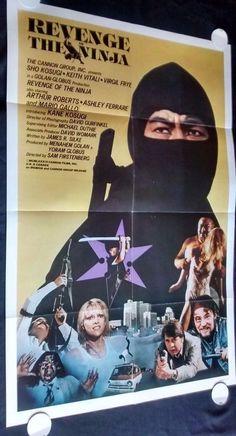 "REVENGE OF THE NINJA 1983 Movie Poster 27x41"" • #MoviePoster #BMovie #KungFu"