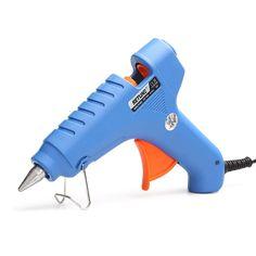 1 unidades de enchufe de LA UE 20 W con interruptor de tipo de pistolas de pegamento de fusión en caliente pistola de pegamento de uso 7 MM pegamento palos