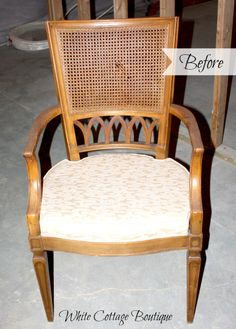 Replacing Cane With Padded Upholstery