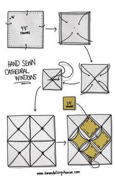 amanda farquharson's cathedral windows tutorial