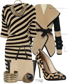 """Dune Acute Animal Print shoes- Leopard"" by tchantx on Polyvore"