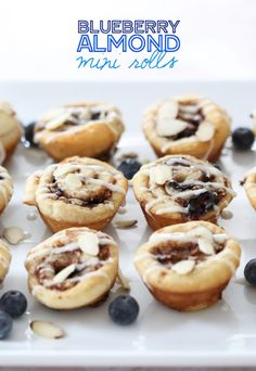 Blueberry Almond Mini Rolls on BHG's Delish Dish! Get the recipe: http://www.bhg.com/blogs/delish-dish/2014/07/09/blueberry-almond-mini-rolls/