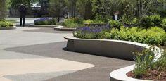 如此极致的景观,不得不服 Landscape Architecture Design, Architecture Photo, Architecture Graphics, Paving Pattern, Raised Planter, Wall Seating, Street Furniture, Native Plants, Garden Landscaping