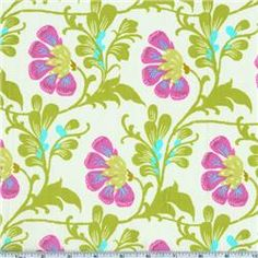 Daisy Chain Fabric by Amy Butler Tent Fabric, Baby Fabric, Chair Fabric, Textures Patterns, Print Patterns, Amy Butler Fabric, Organize Fabric, Brocade Fabric, Floral Fabric