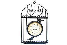 Bird Cage Wall Clock