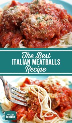 The Best Italian Meatballs - Real Life Dinner - Perfect Italian Meatball Recipe! Got this from a friend and it really is THE BEST! Meatloaf Recipes, Meatball Recipes, Meat Recipes, Seafood Recipes, Pasta Recipes, Dinner Recipes, Cooking Recipes, Dinner Ideas, Meatball Subs