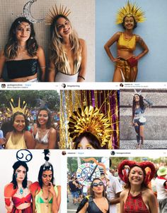 Inspirações para o carnaval 2019 Festival Costumes, Festival Outfits, Festival Fashion, Halloween Costumes For 3, Halloween Party, Sun And Moon Costume, Fiesta Party, Mermaid Makeup, Halloween Disfraces