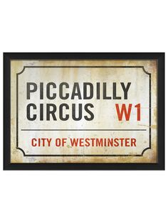 Piccadilly Circus Sign