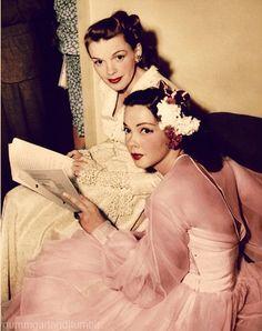 Judy Garland and Kathryn Grayson