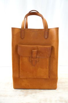 everyday tote vintage 70s leather bag vtg 1970s by danevintage