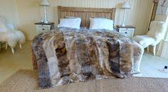 Luxury Decorative  Fine Lambskin Throw