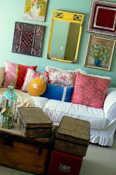 granny chic living room