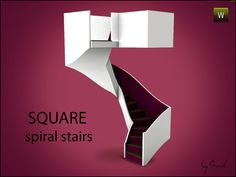 Square Spiral Stairs by Gosik - Sims 3 Downloads CC Caboodle