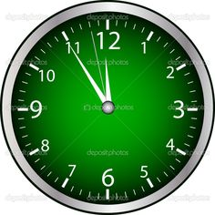 Green Clock TIME IS PRECIOUS Spend With The One You Love