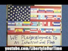 "NYC School Kids Pledge Allegiance to ""International"" Flag"