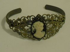 Victorian Cameo Cuff Bracelet by CountryGalPicker on Etsy, $16.00