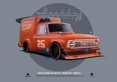 """ArtStation - IZH-2715 """"Moskvitch"""" Vision GT (my version), Andrey Tkachenko"""