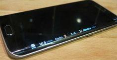 Galaxy S6 Edge display nero LED lampeggia blu